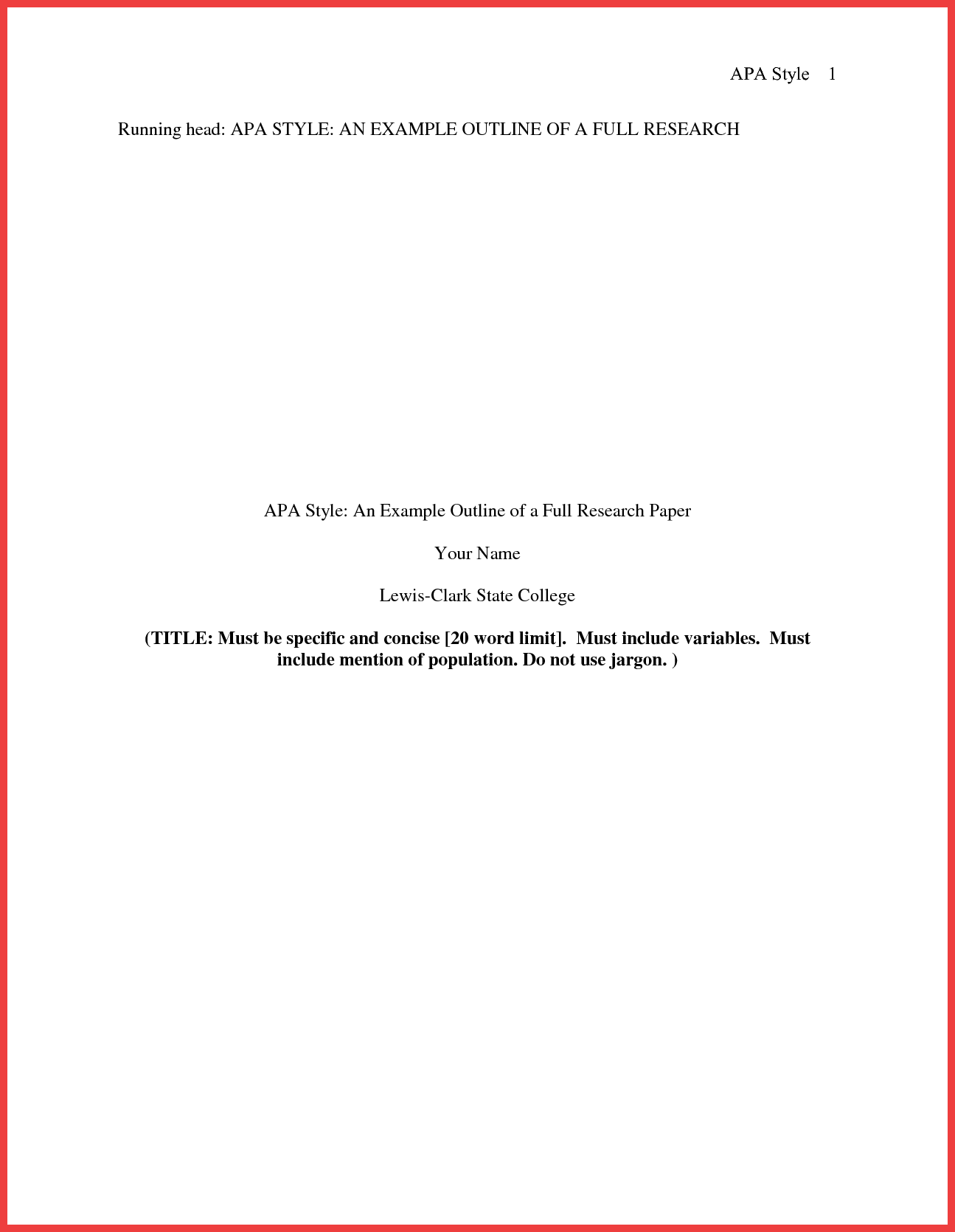 013 Research Paper Format Of Formidable Example Title Page Sample Pdf Ieee Full
