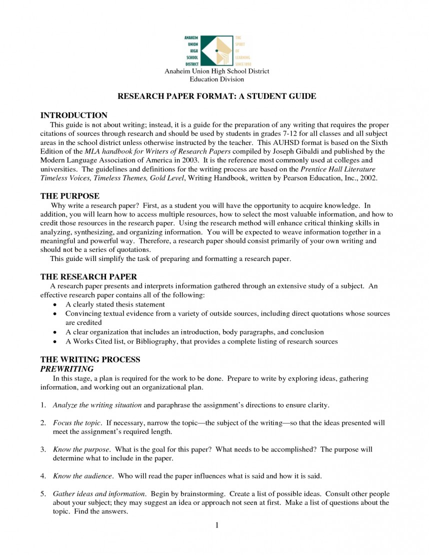 013 Research Paper High School Papers Impressive Examples Outline Example Format Sample For Senior Pdf