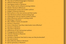 013 Research Paper Literary Topic Magnificent Examples