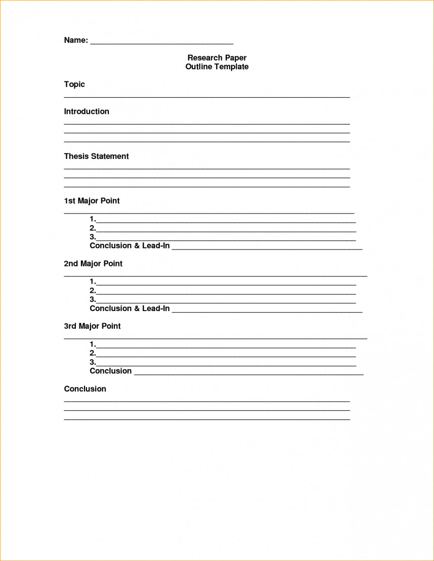 013 Research Paper Outline Template Note Cards Examples For Unique A Samples Papers
