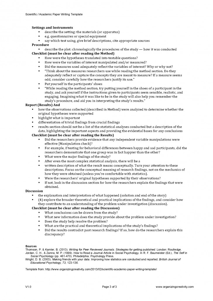 013 Research Paper Scientific Academic Writing Template Page 3 Methods Unique Outline Method 728