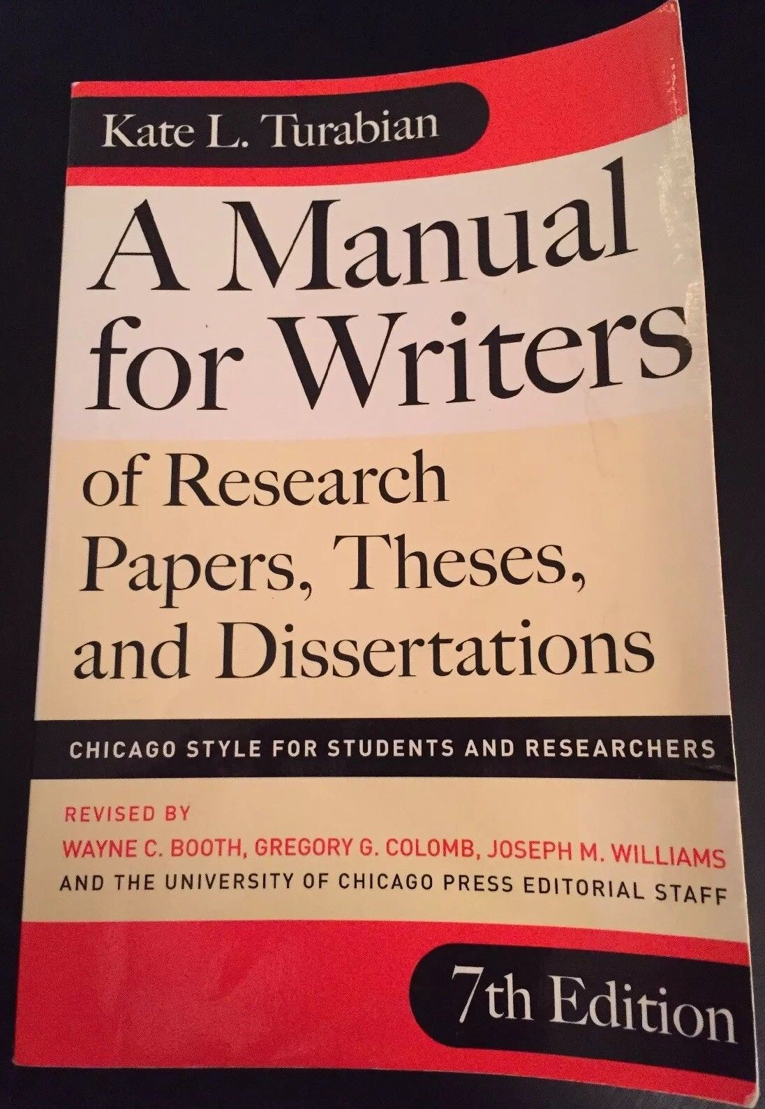 013 S L1600 Research Paper Manual For Writers Of Papers Theses And Sensational A Dissertations Ed. 8 Turabian Ninth Edition Full