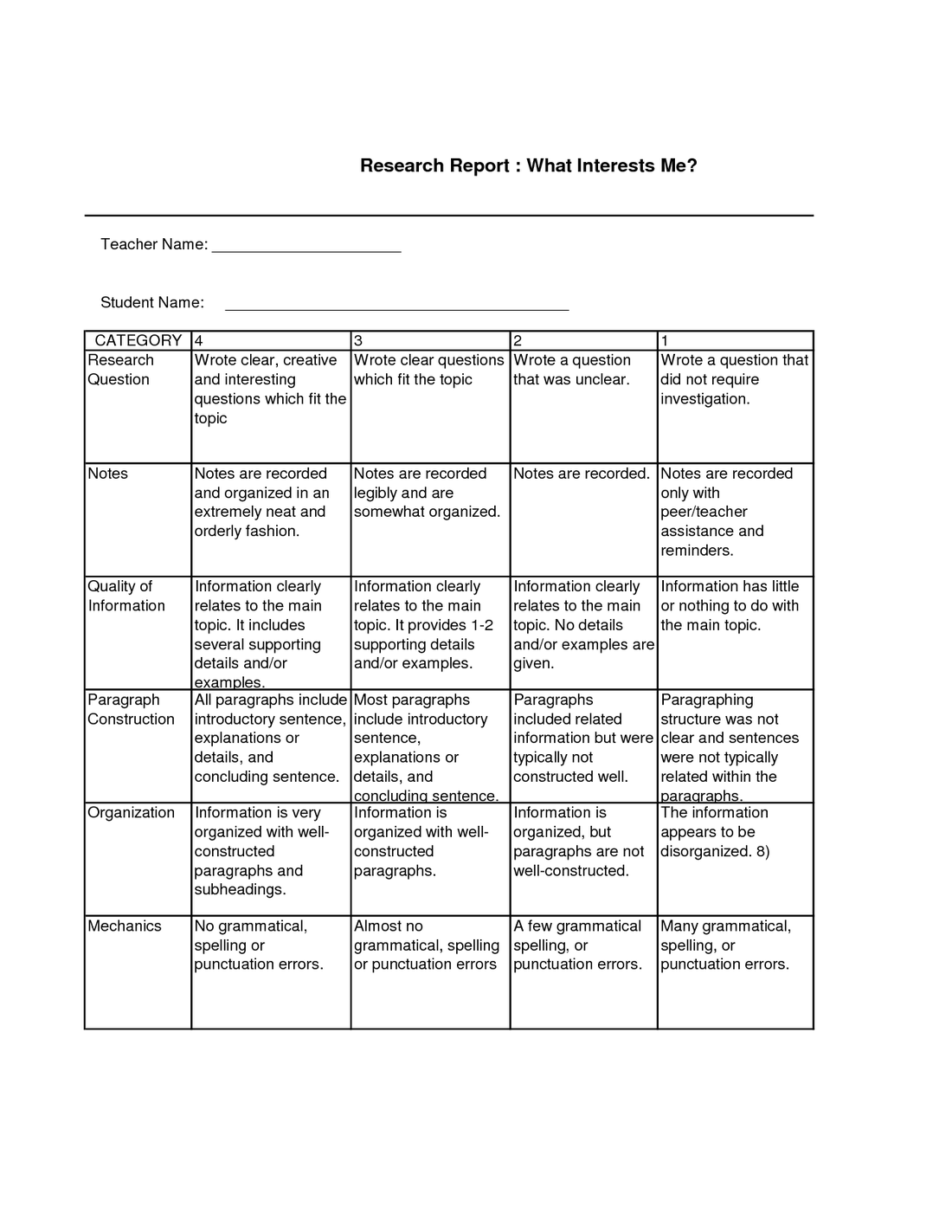 013 Science Fair Research Paper Stunning Background Sample Rubric Full