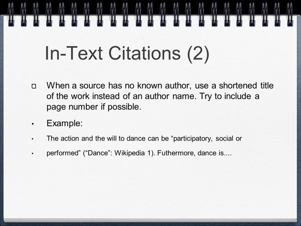 013 Slide 7 Mla Format Research Paper In Text Wonderful Citations Large