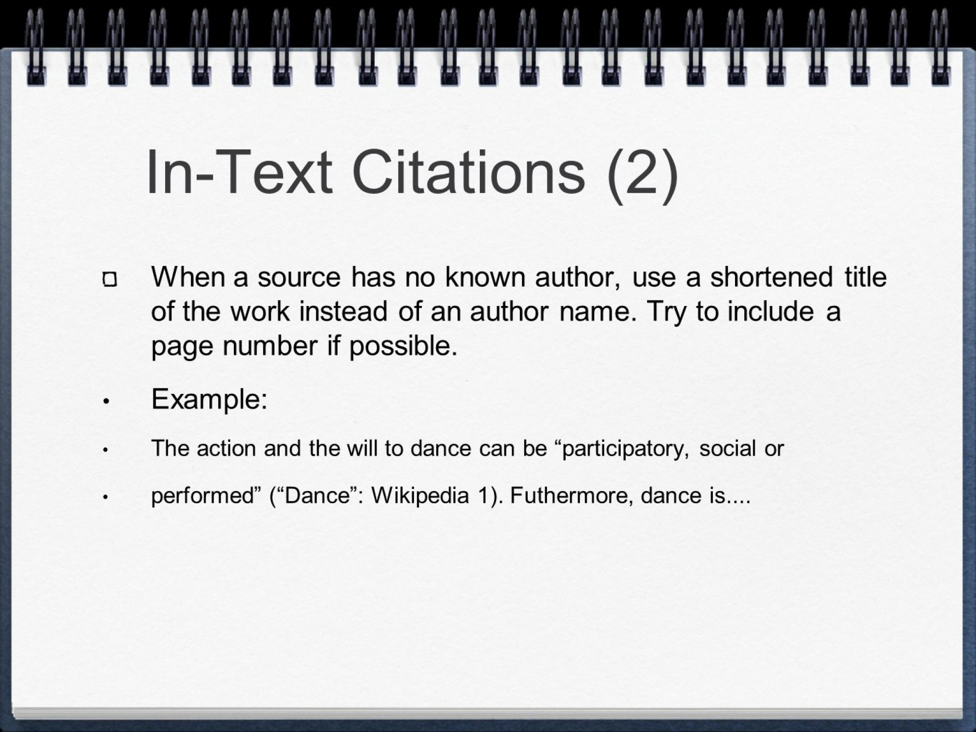013 Slide 7 Mla Format Research Paper In Text Wonderful Citations 1920