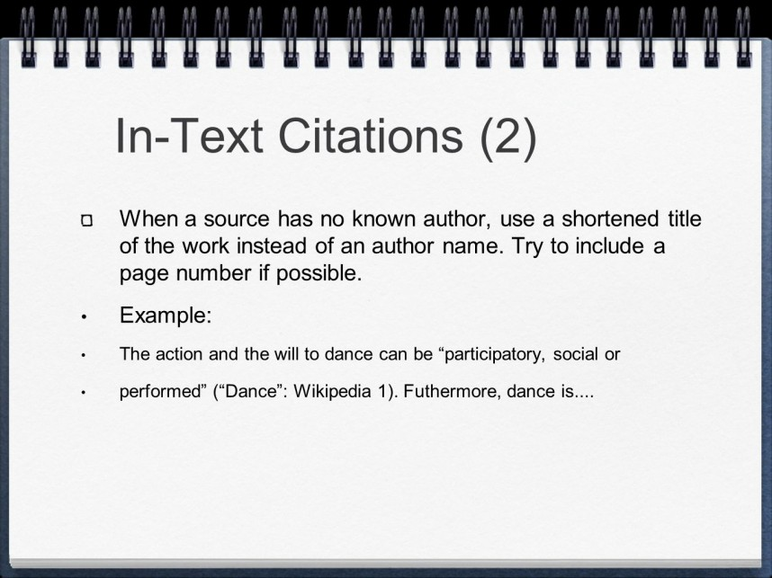 013 Slide 7 Mla Format Research Paper In Text Wonderful Citations 868