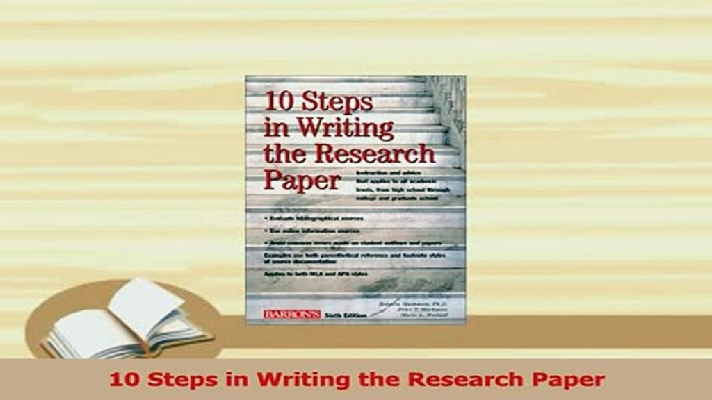 013 Steps To Write Basic Research Paper X720 Tl  Unbelievable 10 A Writing PptLarge