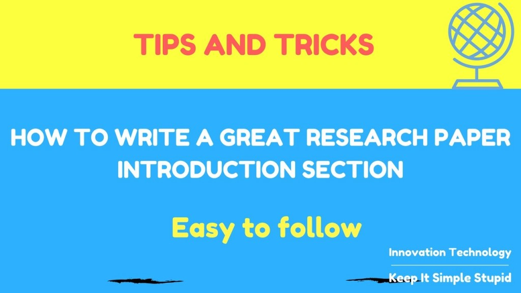 013 Tips For Researchs Maxresdefault Wondrous Research Papers Good Effective Writing Large