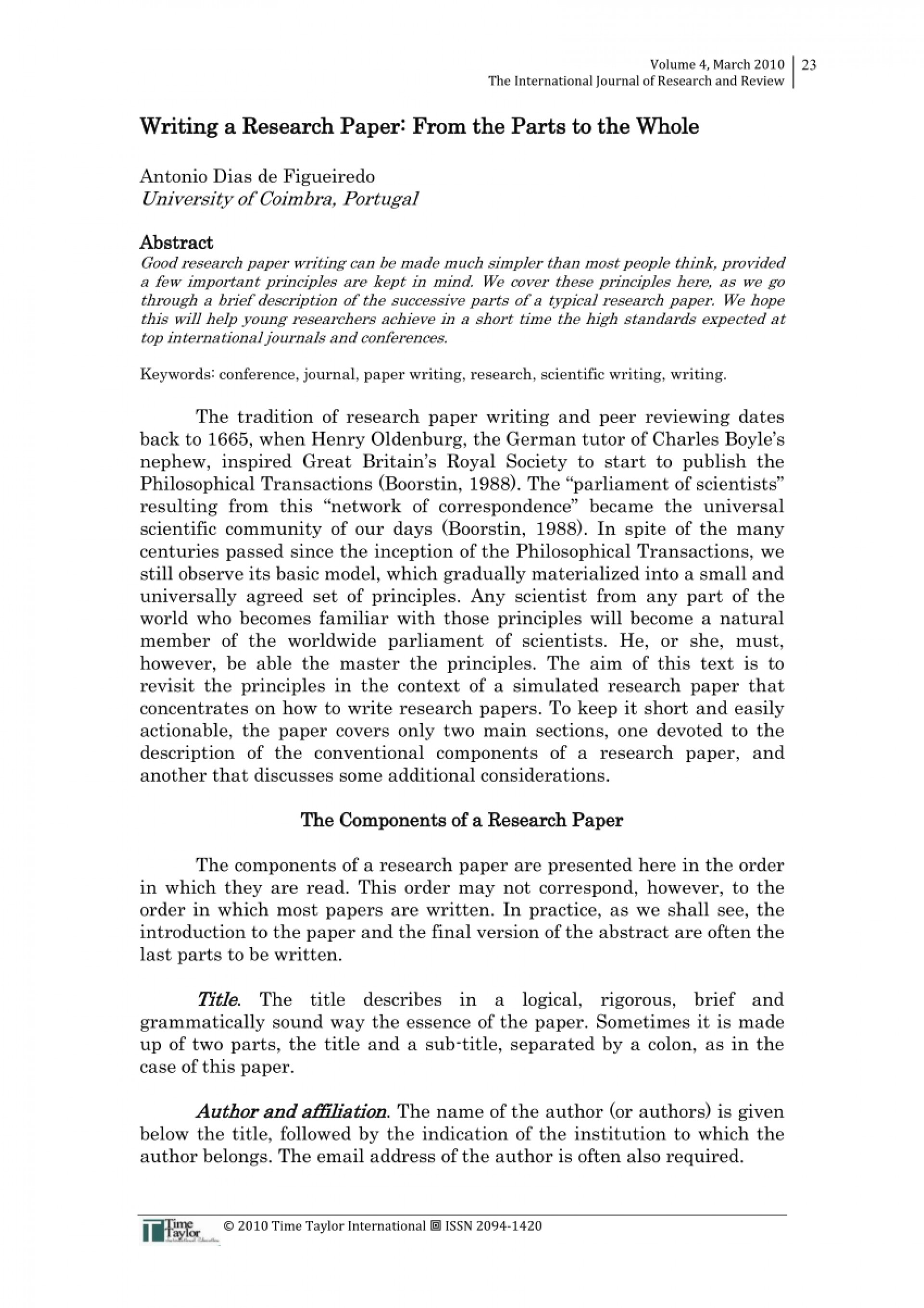 013 What Order Does Research Paper Go In Wonderful Of A Reviews Making 1920
