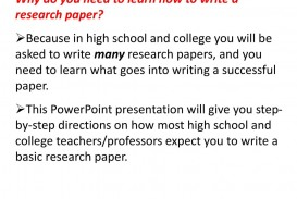 013 Whydoyouneedtolearnhowtowritearesearchpaper Research Paper How To Write Powerpoint Awesome A Presentation 320