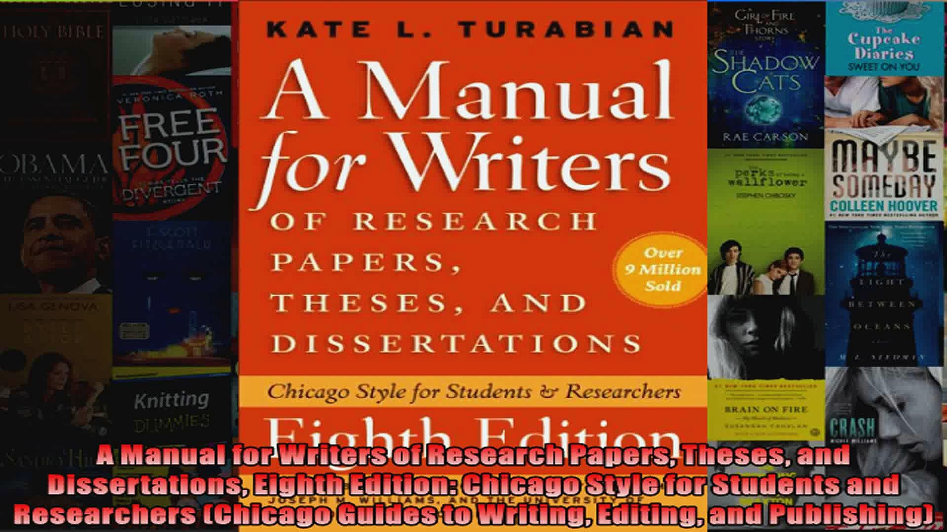 013 X1080 F2u Research Paper Manual For Writers Of Papers Theses And Dissertations Eighth Phenomenal A Edition Pdf Full