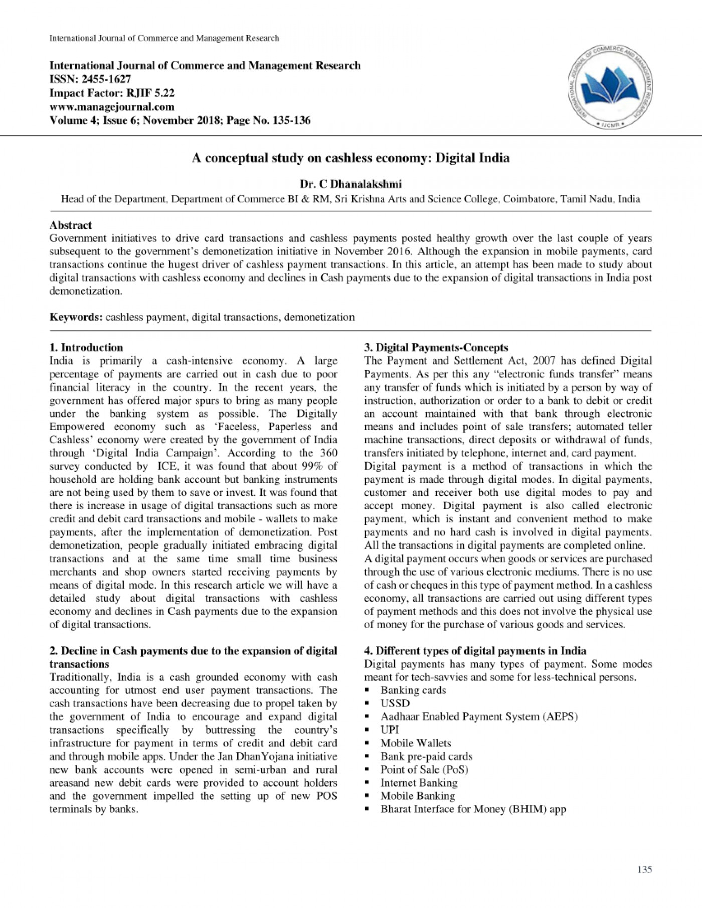 014 Cash To Cashless Economy Research Paper Rare 1400
