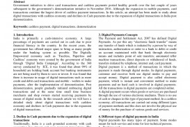 014 Cash To Cashless Economy Research Paper Rare