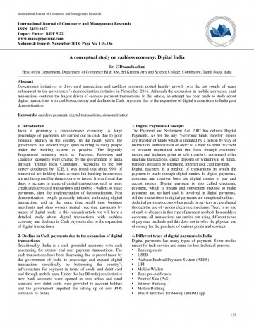 014 Cash To Cashless Economy Research Paper Rare 360