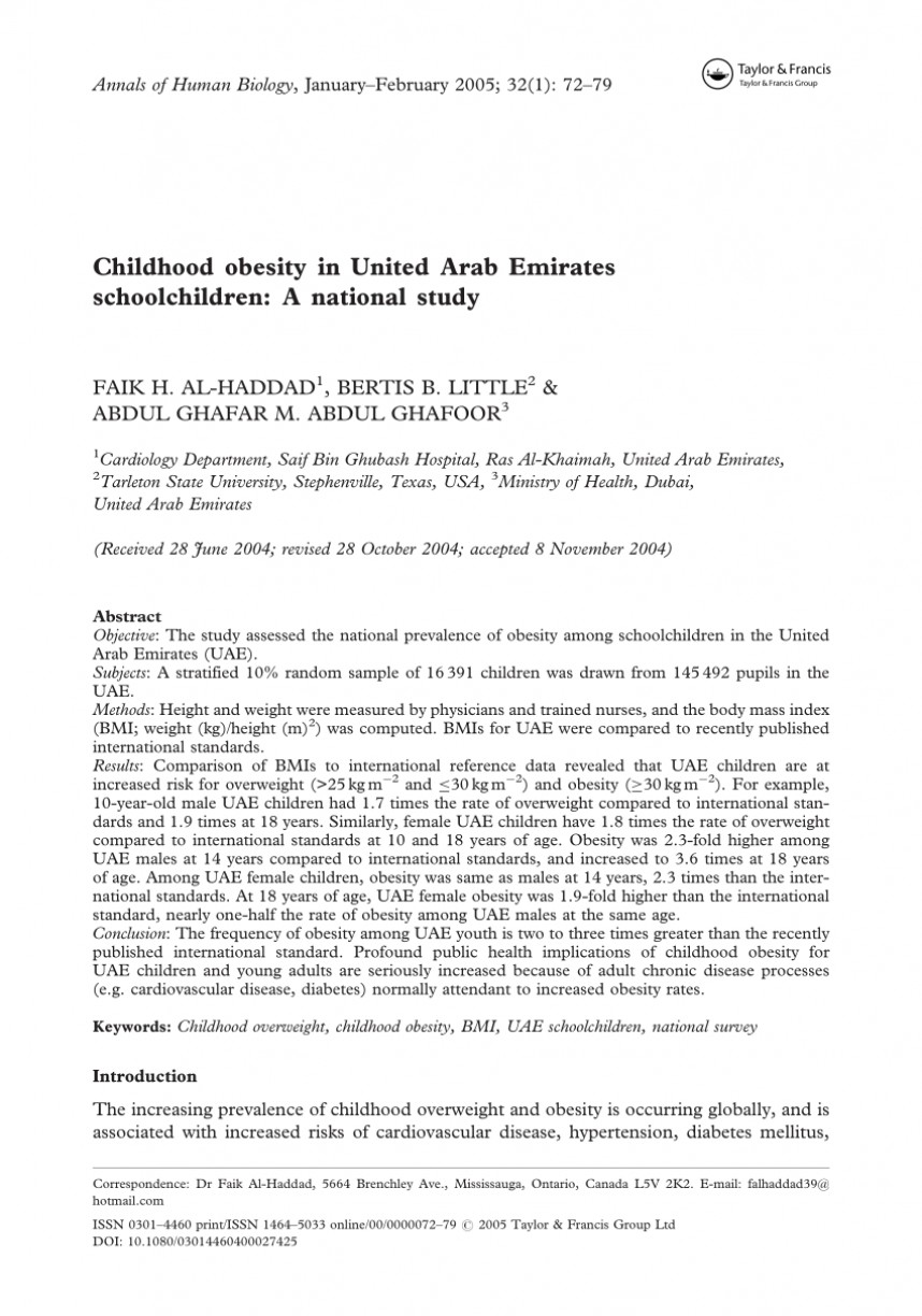 014 Childhood Obesity Research Paper Example Unique