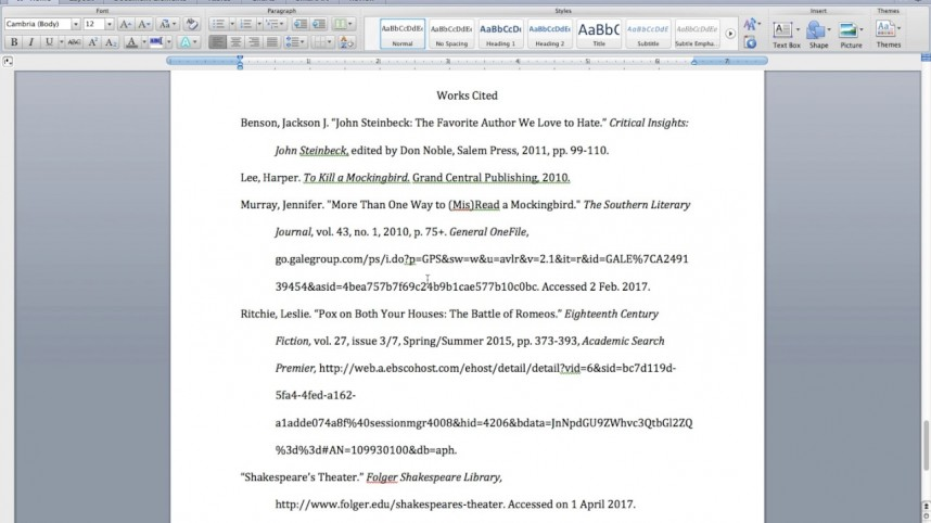 014 Citations In Research Paper Mla Awesome A Citation Example Cite Style