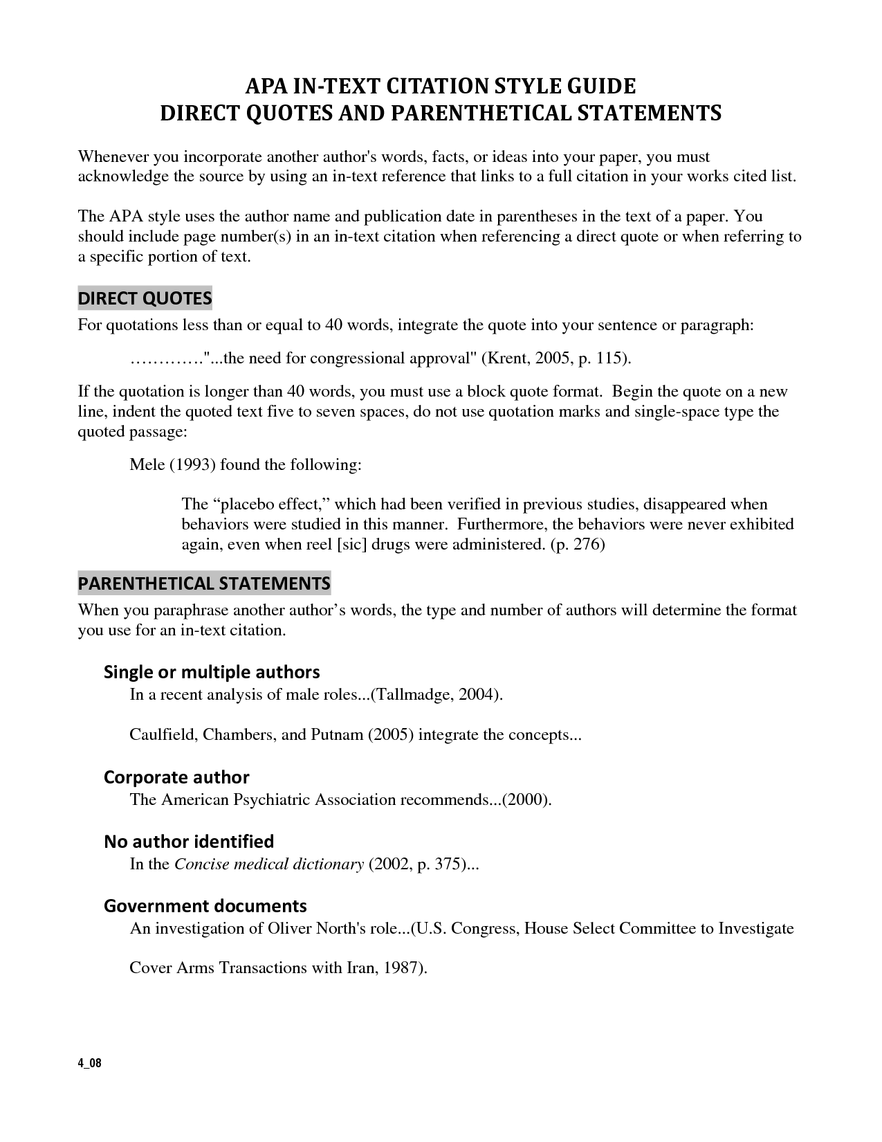014 Cited Quotes Research Paper How To Make Citations In Unusual A Apa Full