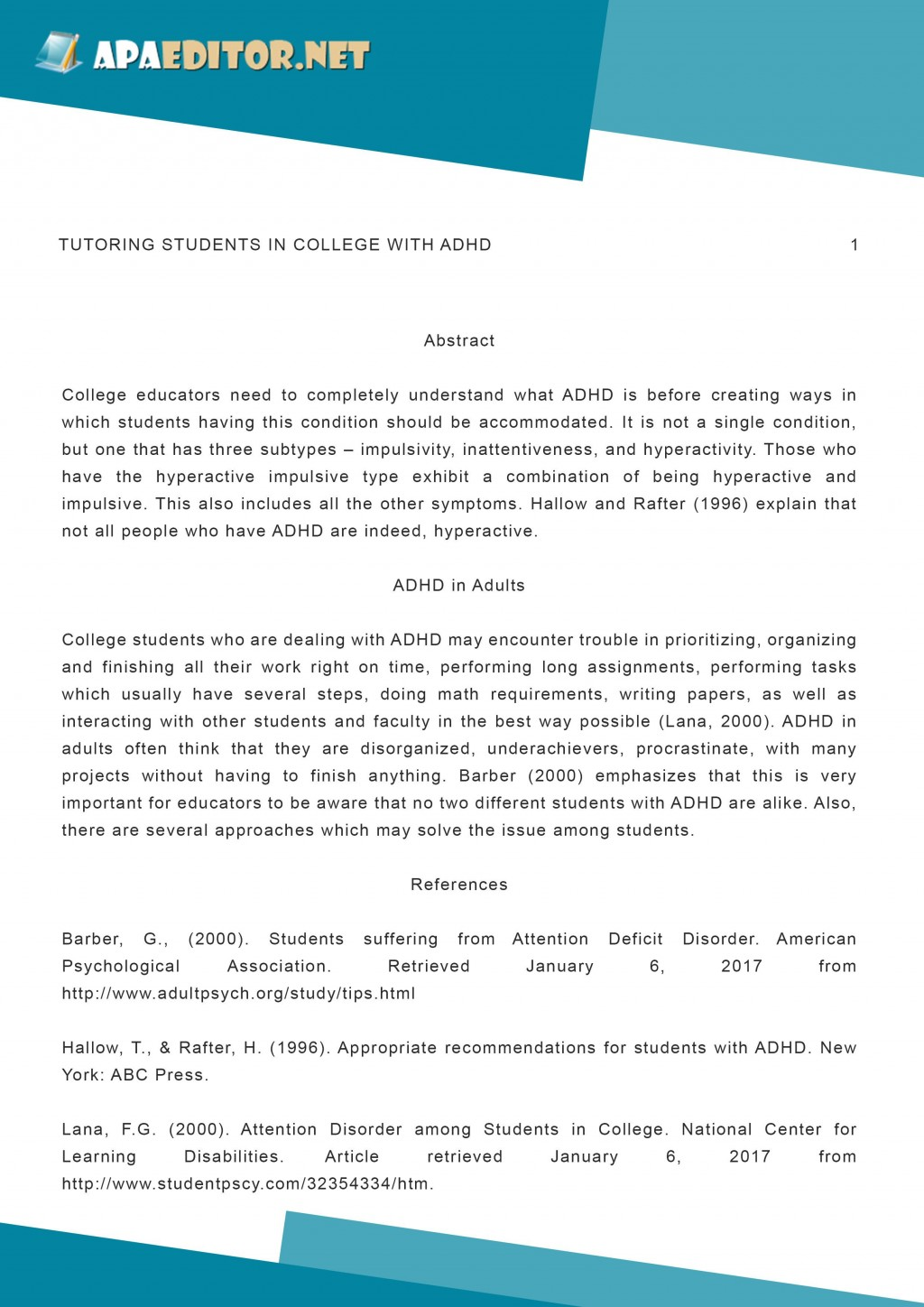 014 Conclusion Example For Assignment Outstanding Pin By Apa Samples On Research Paper Sample Of Impressive Adhd Large