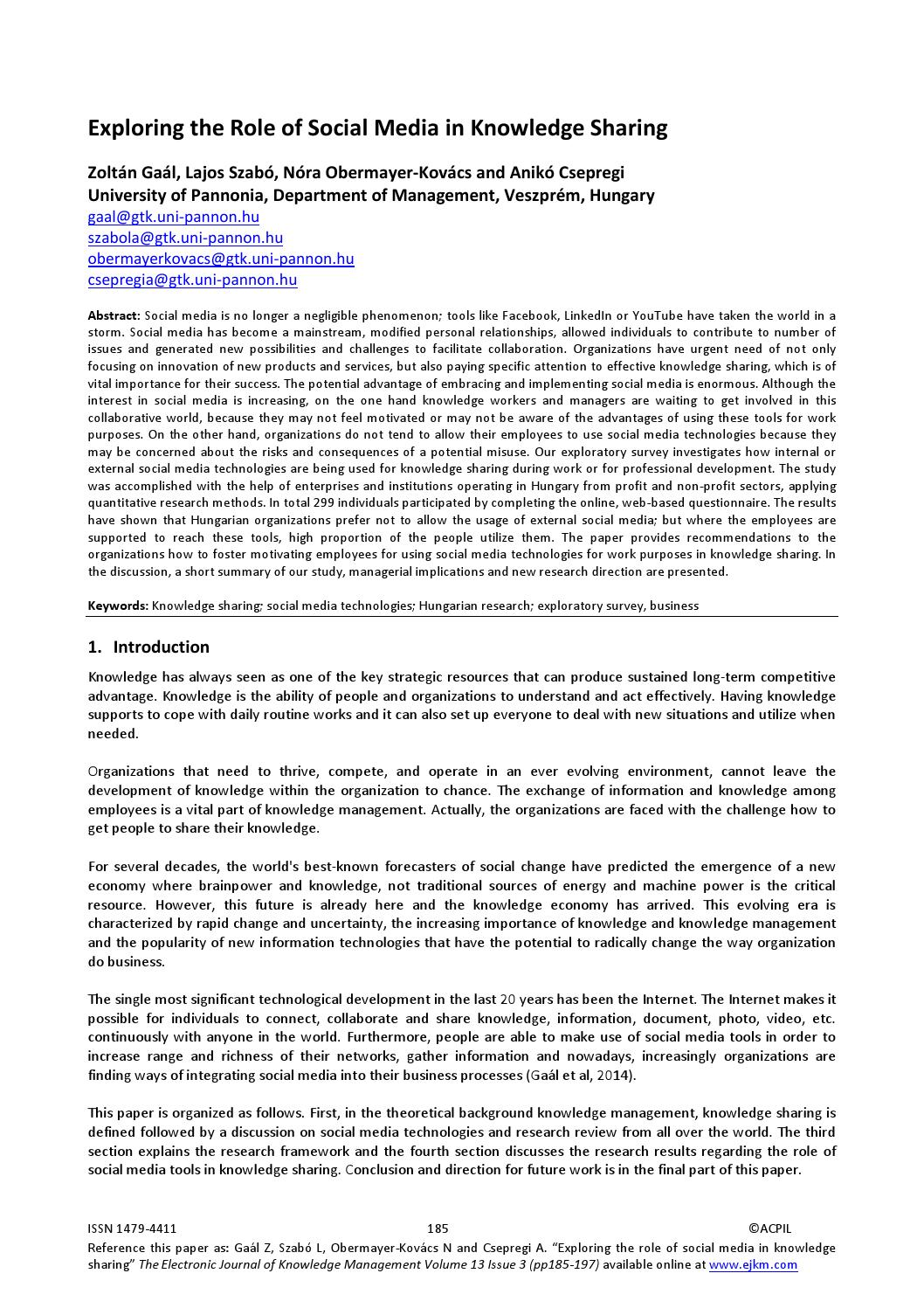 014 Conclusion For Research Paper About Social Media Page 1 Awful Full