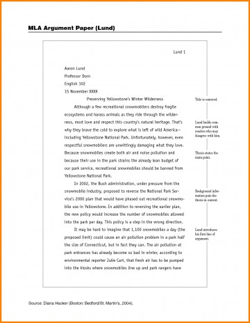 014 Example Of Mla Research Paper How To Write Sample Imposing With Cover Page Footnotes 360