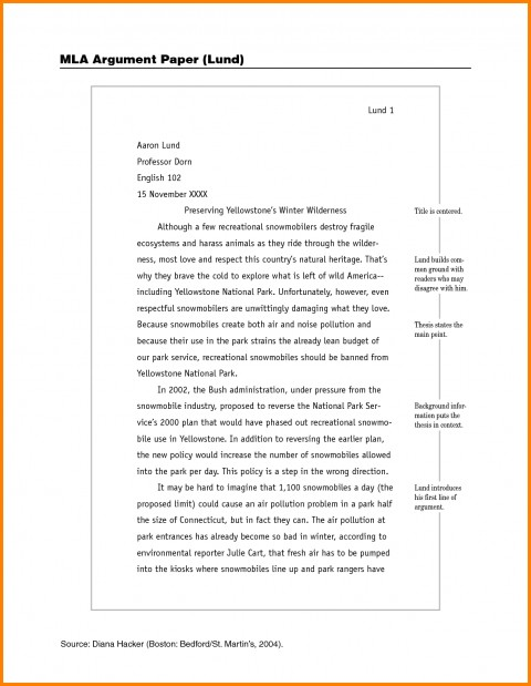 014 Example Of Mla Research Paper How To Write Sample Imposing With Cover Page Footnotes 480