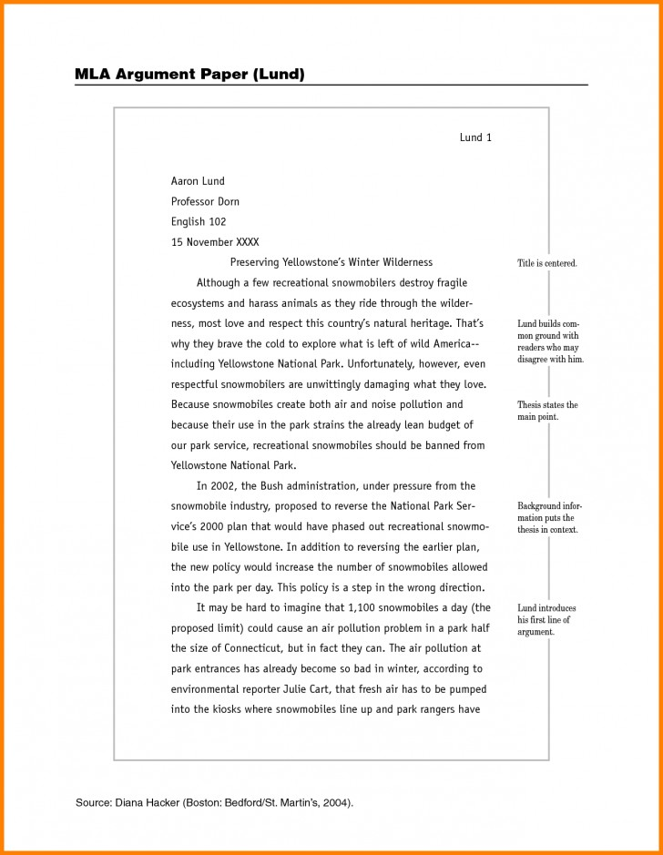 014 Example Of Mla Research Paper How To Write Sample Imposing With Cover Page Format 8 728