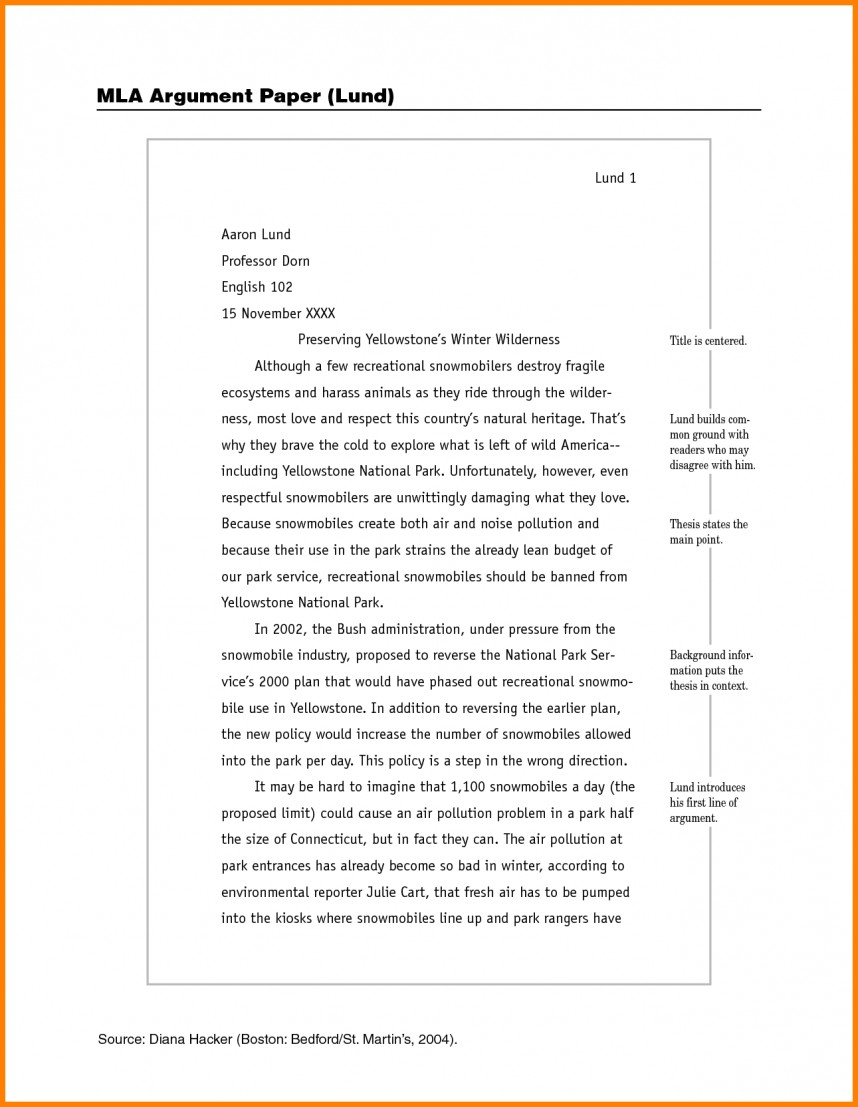 014 Example Of Mla Research Paper How To Write Sample Imposing With Cover Page Footnotes 868