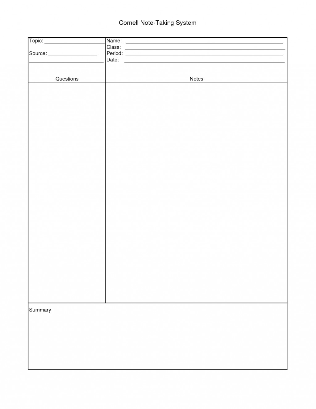 014 How To Do Notecards For Research Paper Mla Cornell Note Taking Template 31547 Staggering A Make Large