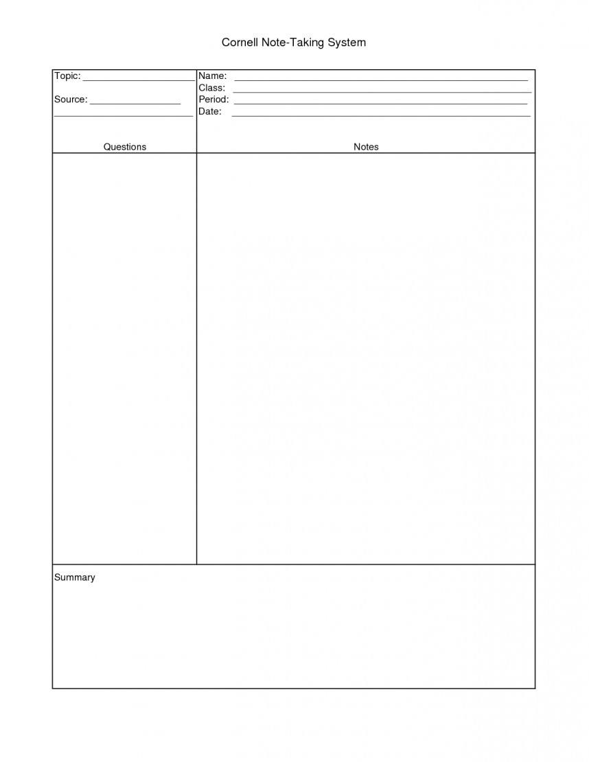 014 How To Do Notecards For Research Paper Mla Cornell Note Taking Template 31547 Staggering A Make