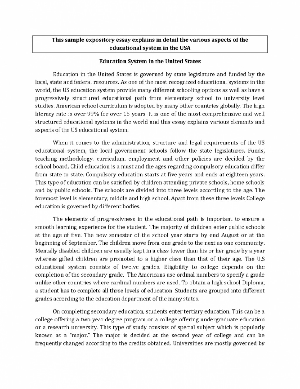 014 Informative Research Paper Topics For High School Students Essay Examples Of Essays Samples Expository Middle Pdf Excellent Ideas Large