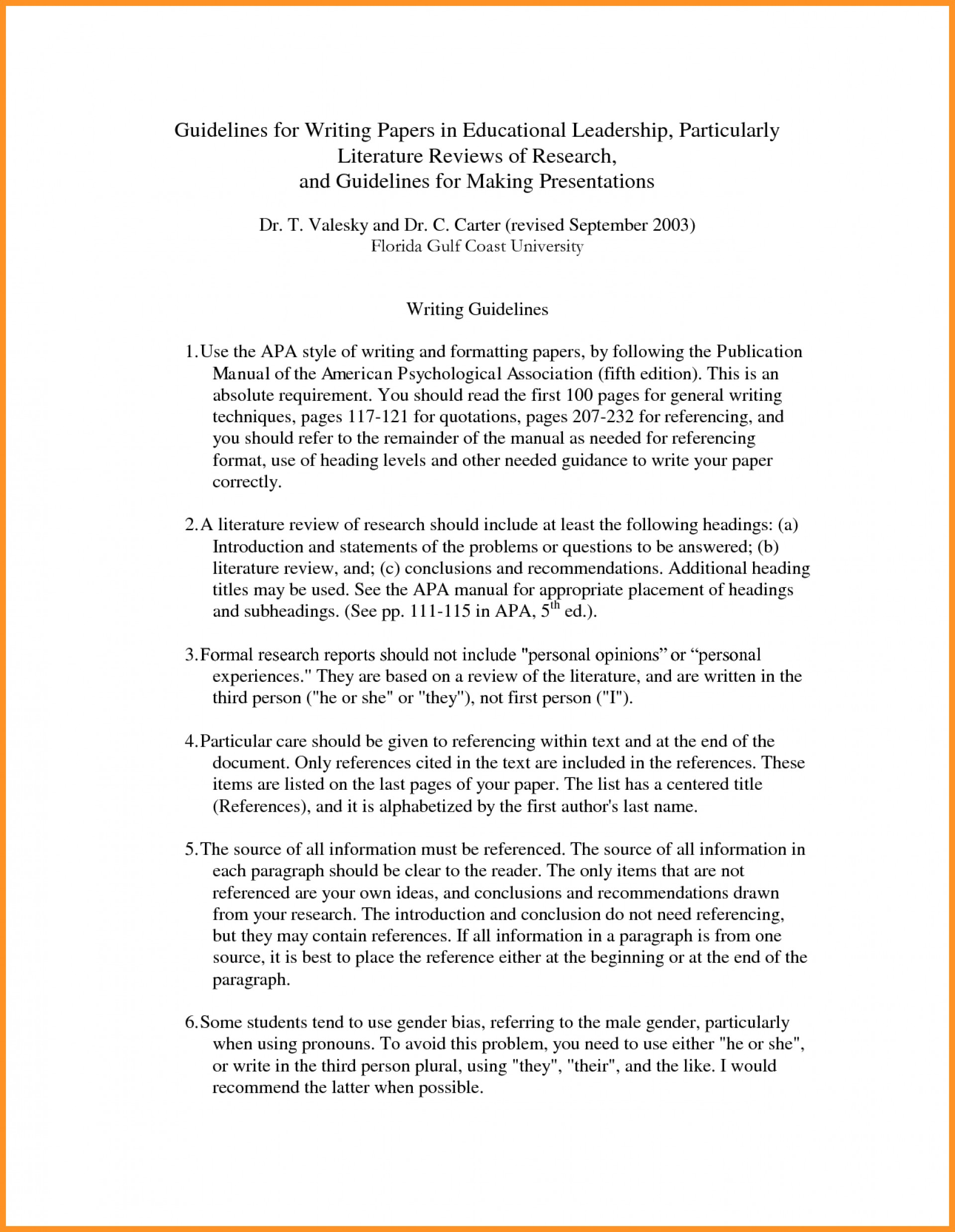 014 Literature Review Sample Apa 3 Research Unique Paper 1920