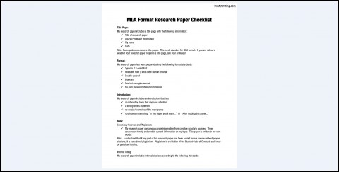014 Mla Research Paper Outline Unbelievable 8 480
