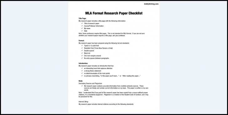 014 Mla Research Paper Outline Unbelievable 8 728
