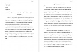 014 Mla Sample Paper Research How To Cite In Format Imposing A Example