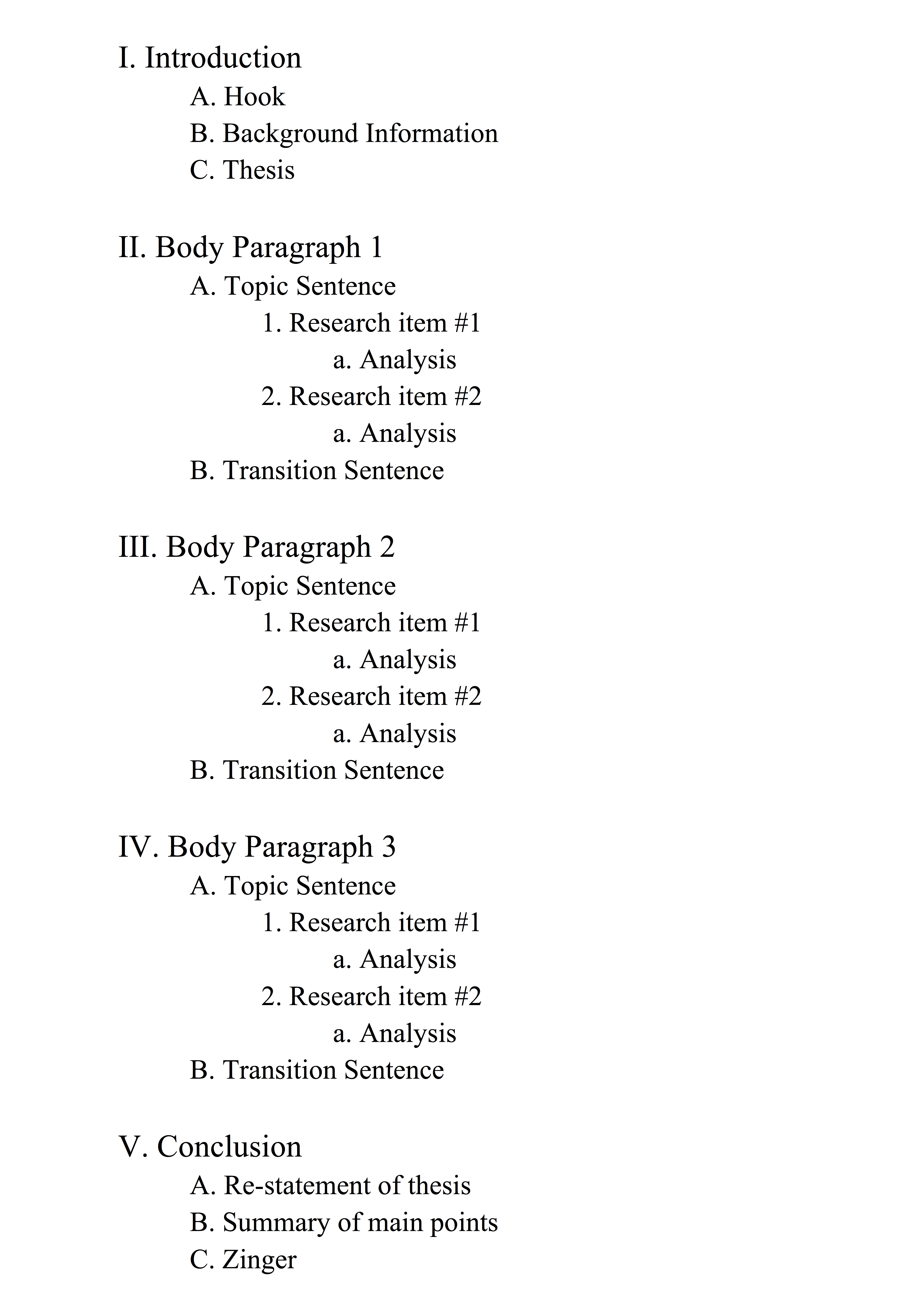 014 Outline Example Mla Research Paper Museumlegs