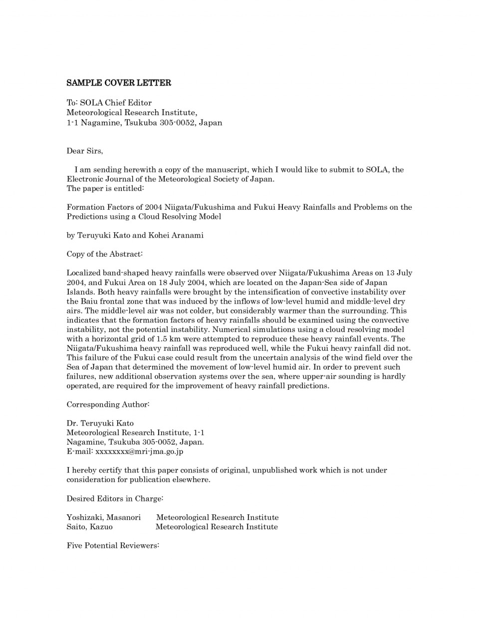 014 Research Paper Editor Cover Letter ~ Museumlegs