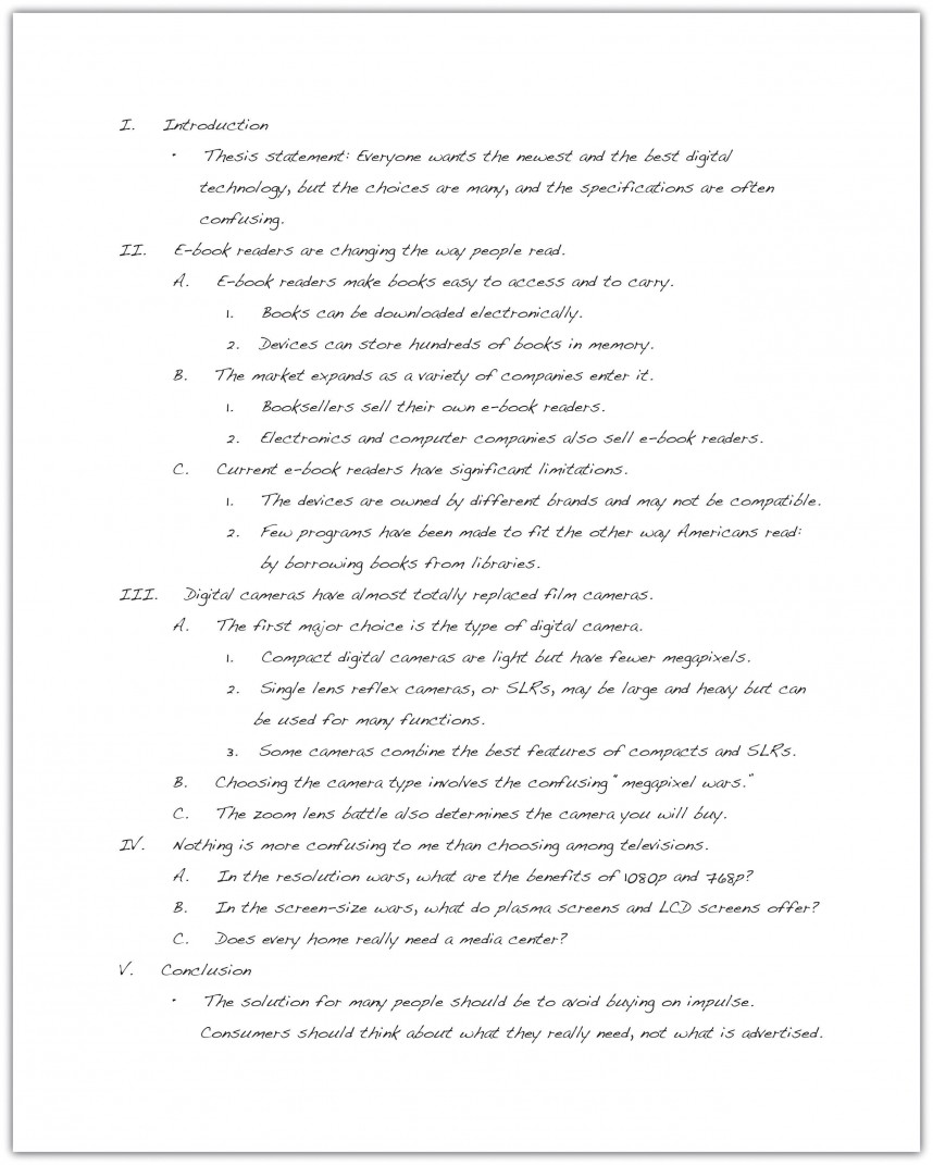 014 Research Paper English Outline Sample Beautiful
