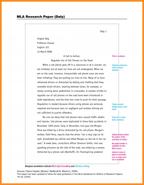 014 Research Paper Essay Example Mla Format For Unbelievable Of With Cover Page Argument 480
