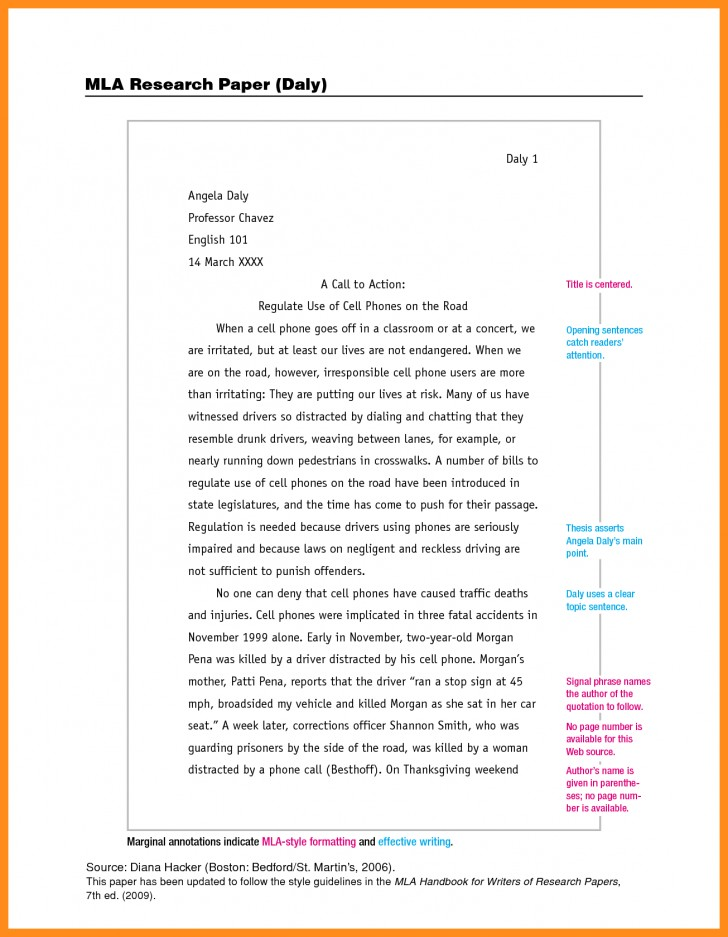 014 Research Paper Essay Example Mla Format For Unbelievable Of With Cover Page Argument 728