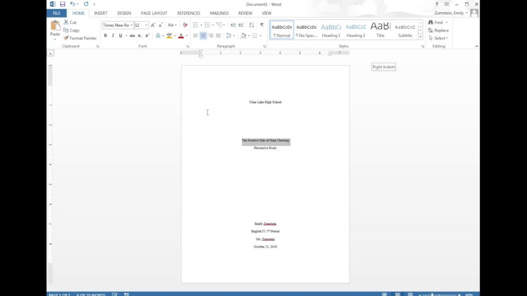 014 Research Paper First Page Mla Format Unique Style For The Of A Title Large