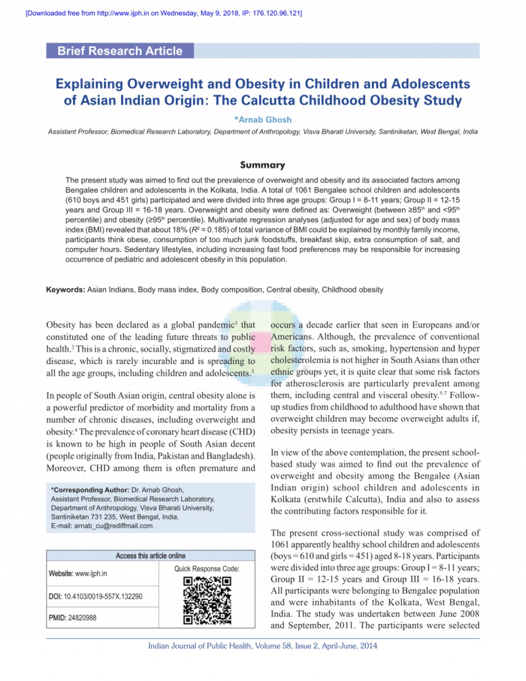 014 Research Paper Largepreview Primary Article On Childhood Imposing Obesity Large