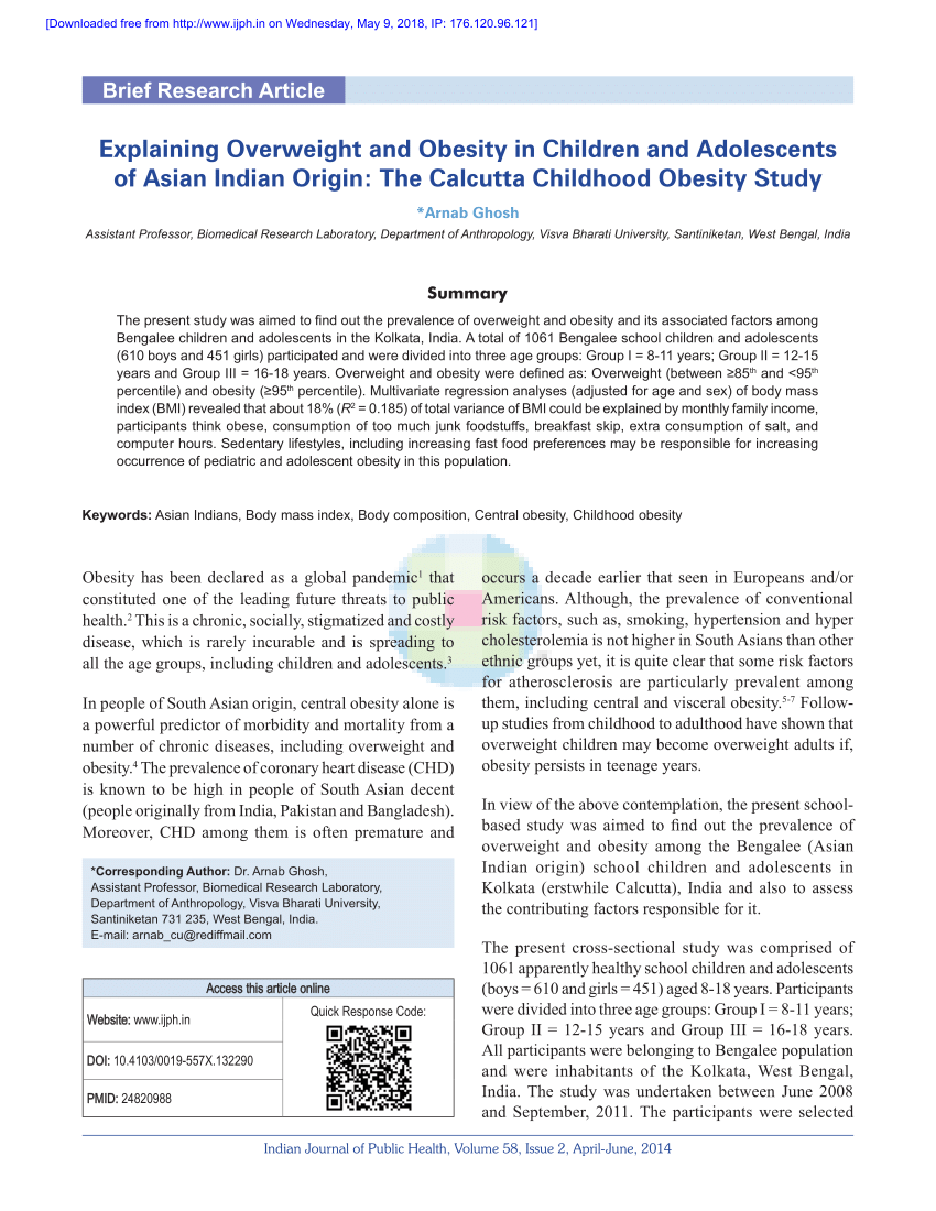014 Research Paper Largepreview Primary Article On Childhood Imposing Obesity Full