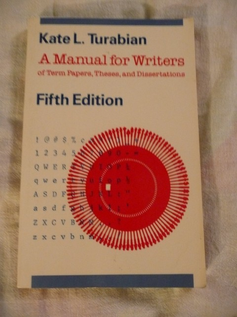 014 Research Paper Manual For Writers Of Papers Theses And Dissertations Magnificent A Amazon 9th Edition 8th 13 480