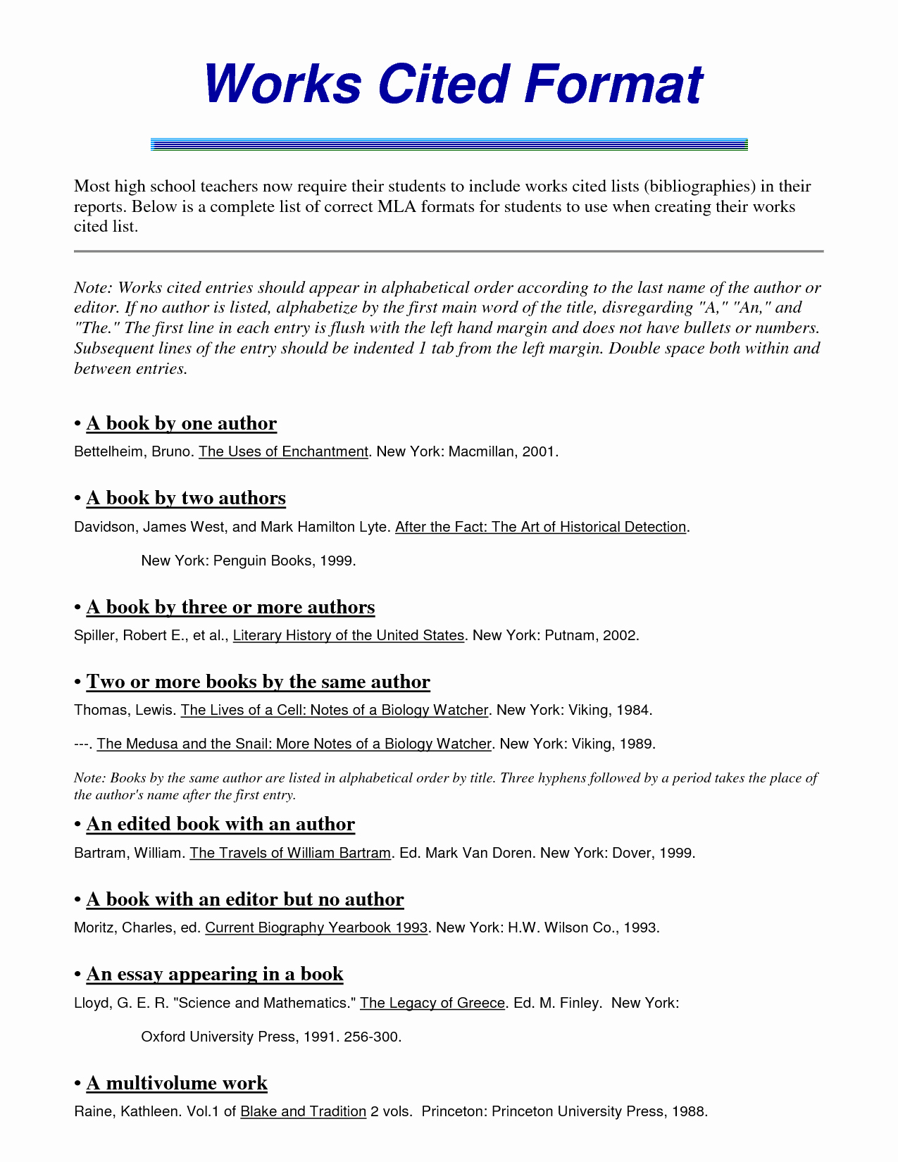 work cited mla format template