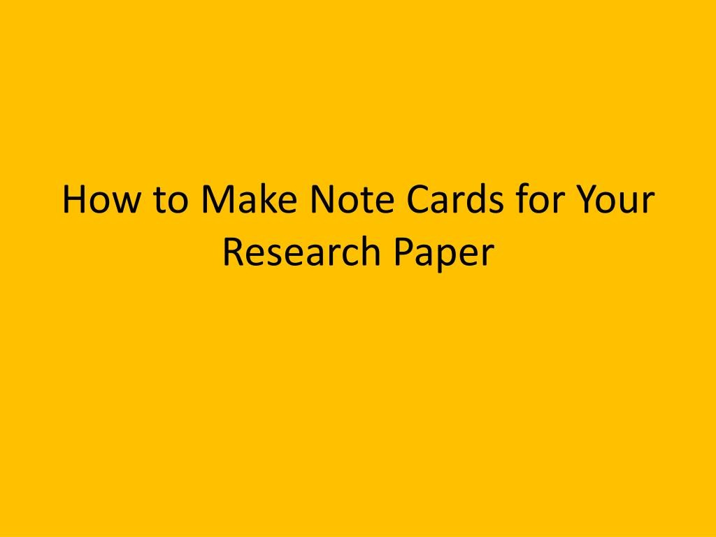 014 Research Paper Note Cards How To Make For Your Stupendous Mla Format Examples Large