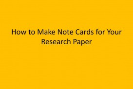 014 Research Paper Note Cards How To Make For Your Stupendous Examples Apa Format Mla