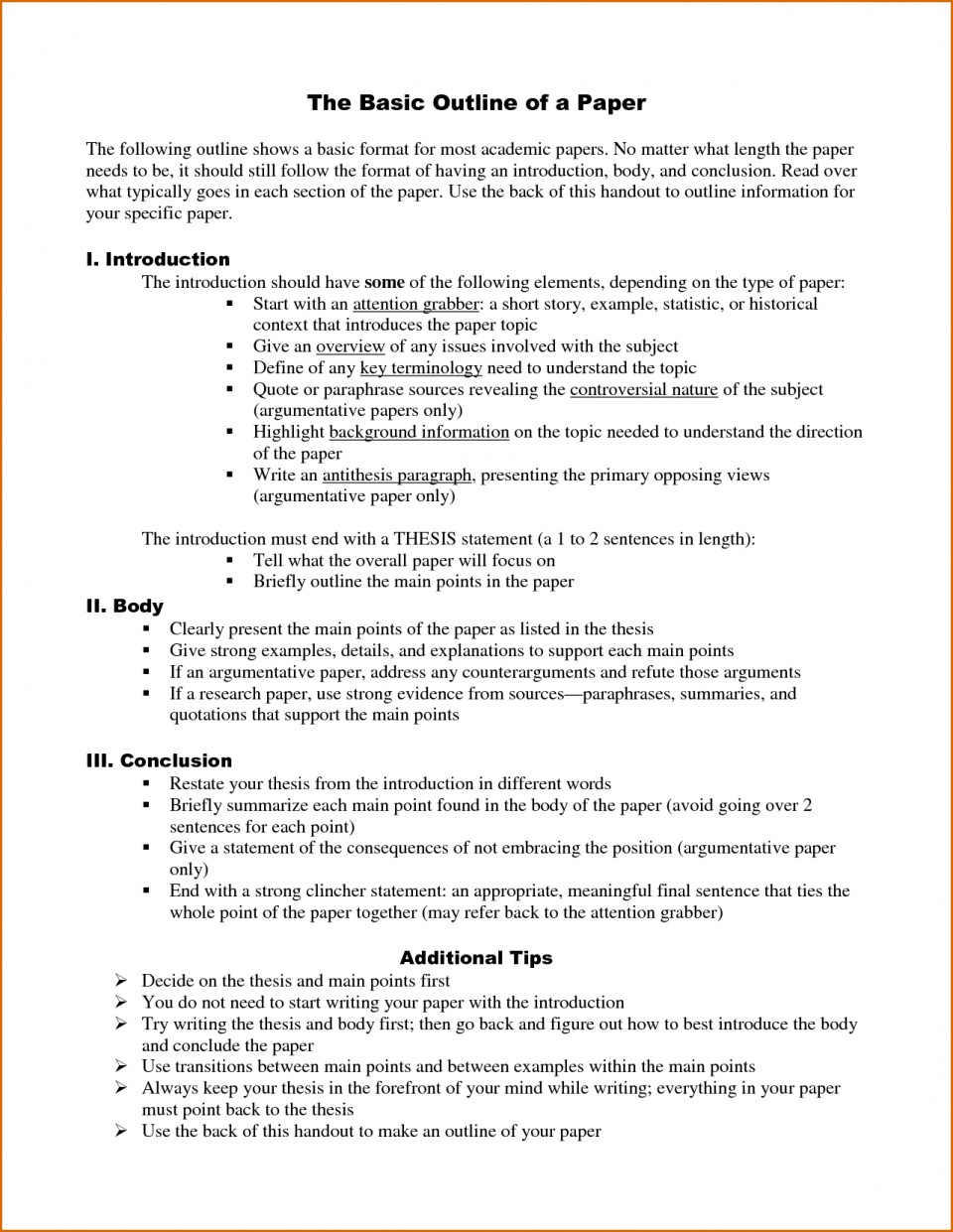 014 Research Paper Outline Template Word How To Do An For Stupendous A Example Write Sample 960