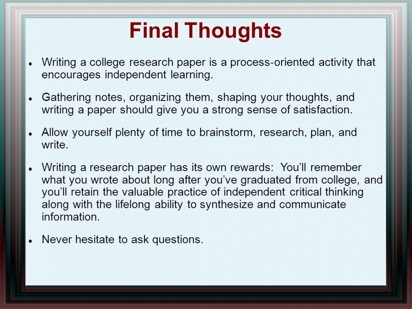 014 Research Paper Writing Process Ppt How Outstanding To Publish Write Abstract For Prepare 1400