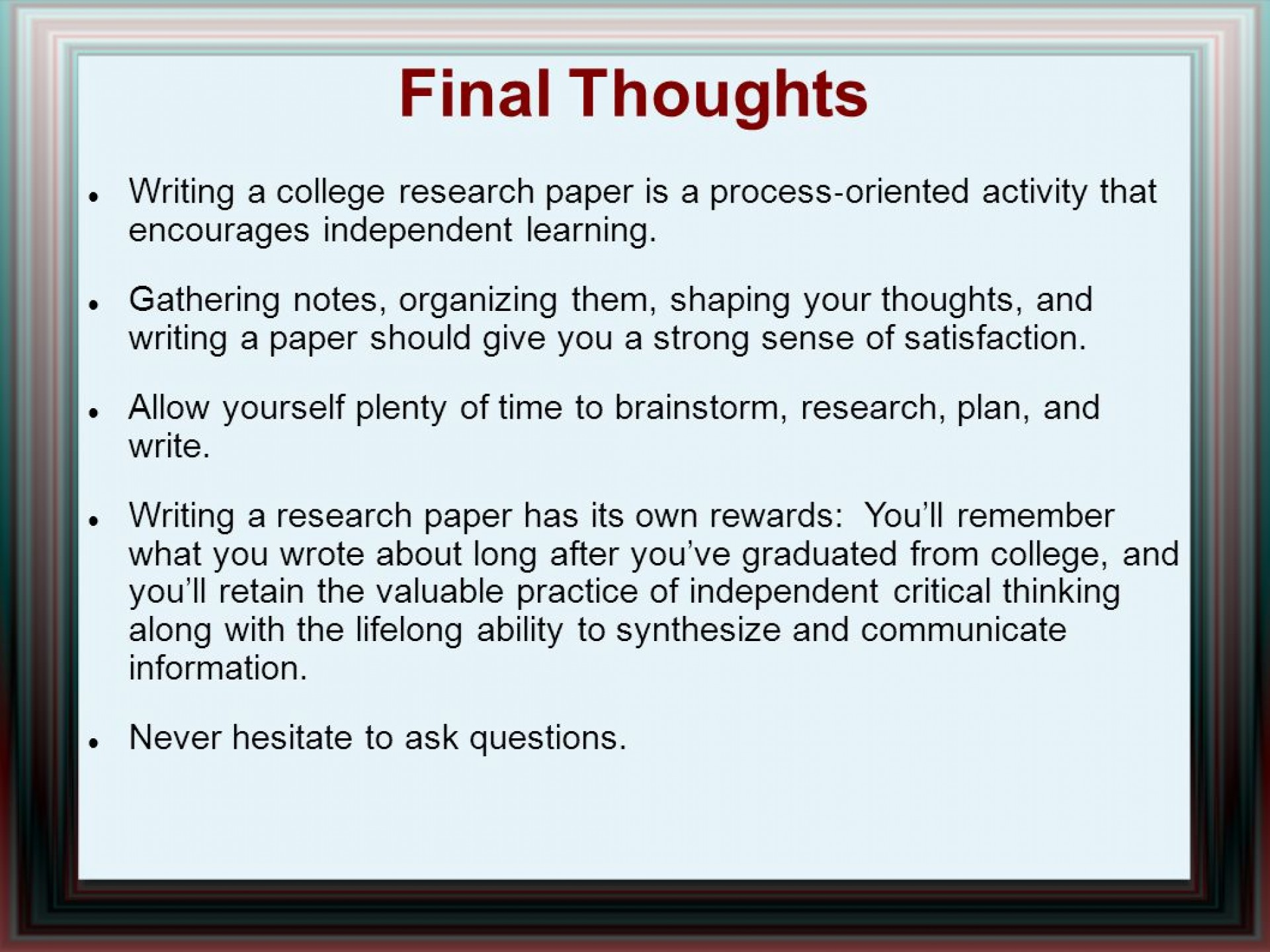 014 Research Paper Writing Process Ppt How Outstanding To Publish Write Abstract For Prepare 1920