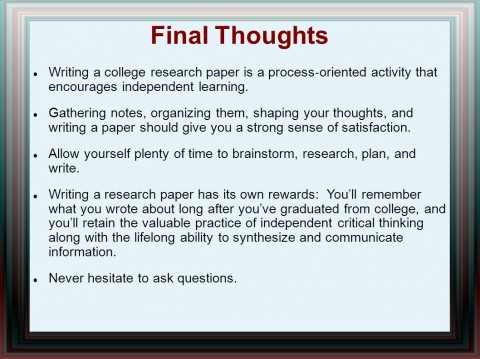 014 Research Paper Writing Process Ppt How Outstanding To Publish Write Abstract For Prepare 480